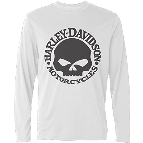 ec7f16815969 Y-CAXY Men's Harley Davidson Skull Long Sleeve T Shirts: Amazon.ca:  Clothing & Accessories
