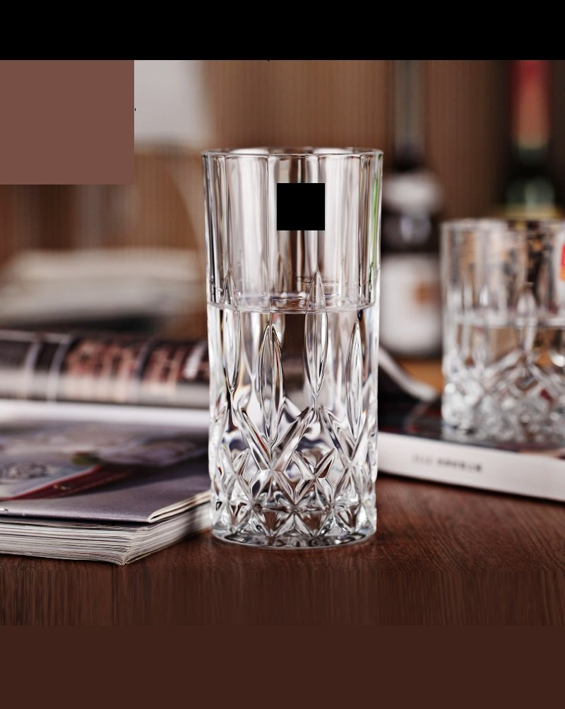 Le'rze Posh Collection Glass Drinking Glasses Set, Set of 6, Special Edition CRYSTAL HIGHBALL Glassware Serveware Drinkware Cups/coolers Set Le'rzae