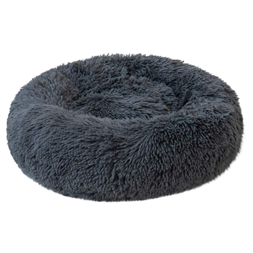 Pet Bed, Pet Comfortable Round Bed Winter Warm Plush Kennel Dogs Litter Deep Sleep PV Cat Litter Sleeping Bed Soft Pet Calming Bed (X-Large, Dark Blue) by Aritone - Pet