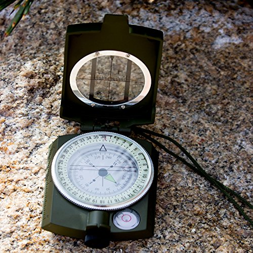 Under Control Tactical Best Sighting Compass For Camping - Military Grade Survival & Mapping Gear by Under Control Tactical
