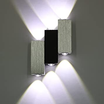 Amzdeal 6W 6LED Up Down Wall Light LED Wall Lighting In Day White