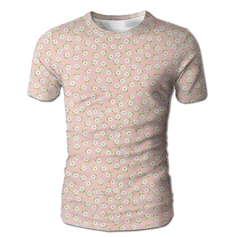 Edgar John Small Daisies Repeating Spring Themed Romantic Bridal Wedding Design Men's Short Sleeve Tshirt M