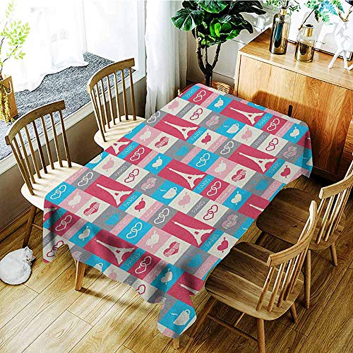 XXANS Tablecloth for Kids/Childrens,Paris,Coffee and Love Eiffel Tower