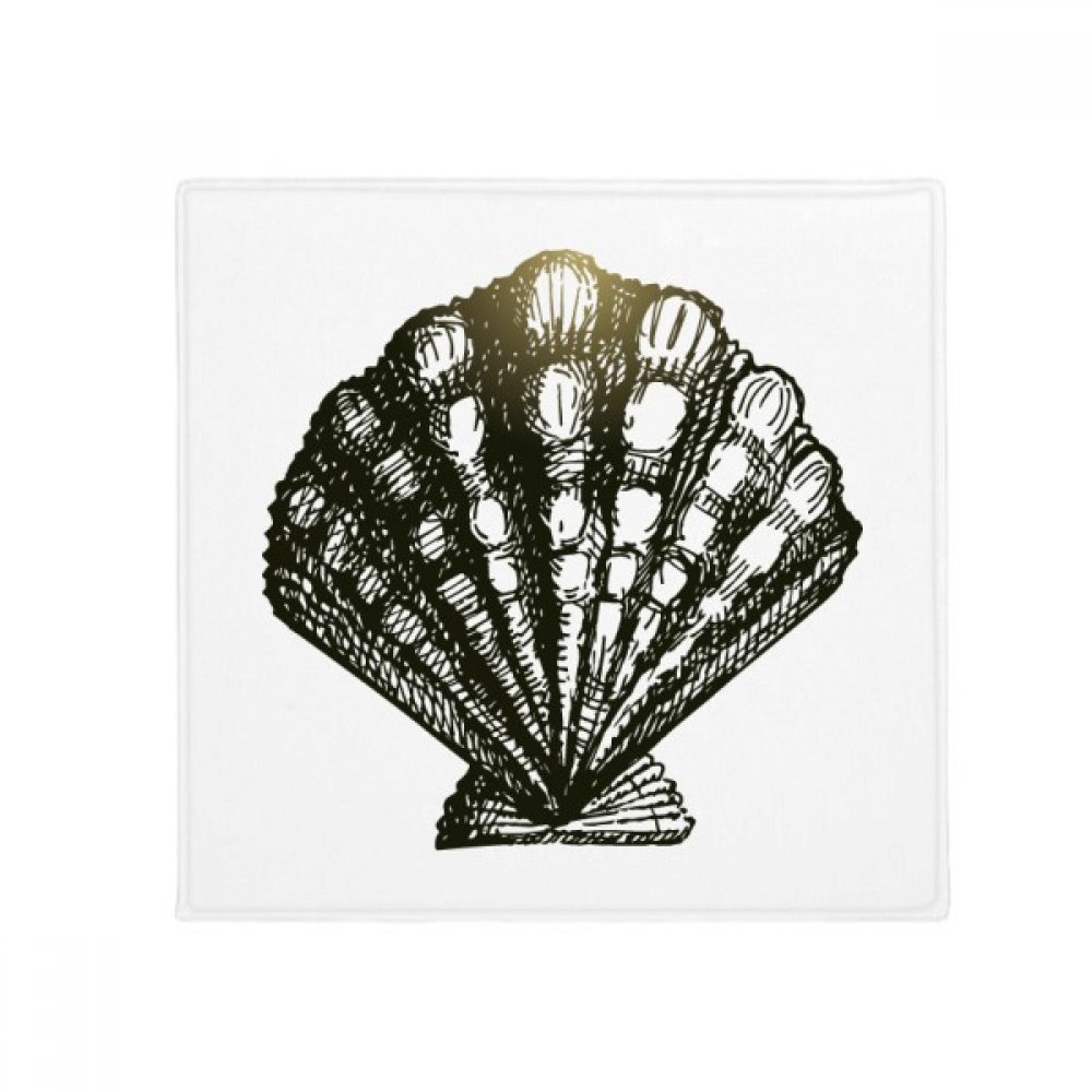 DIYthinker Scallop Marine Life Black Illustration Anti-Slip Floor Pet Mat Square Home Kitchen Door 80Cm Gift