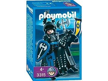 playmobil 3315 chevaliers chevalier noir - Playmobile Chevalier