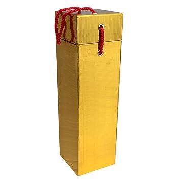 Fantastiko Christmas Caja Dorada de Regalo para Botella de Vino: Amazon.es: Hogar
