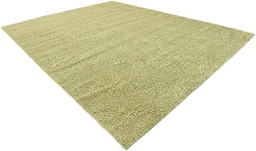 Unique Loom Solo Collection Solid Plush Kids Light Green Area Rug 10 0 x 13 0