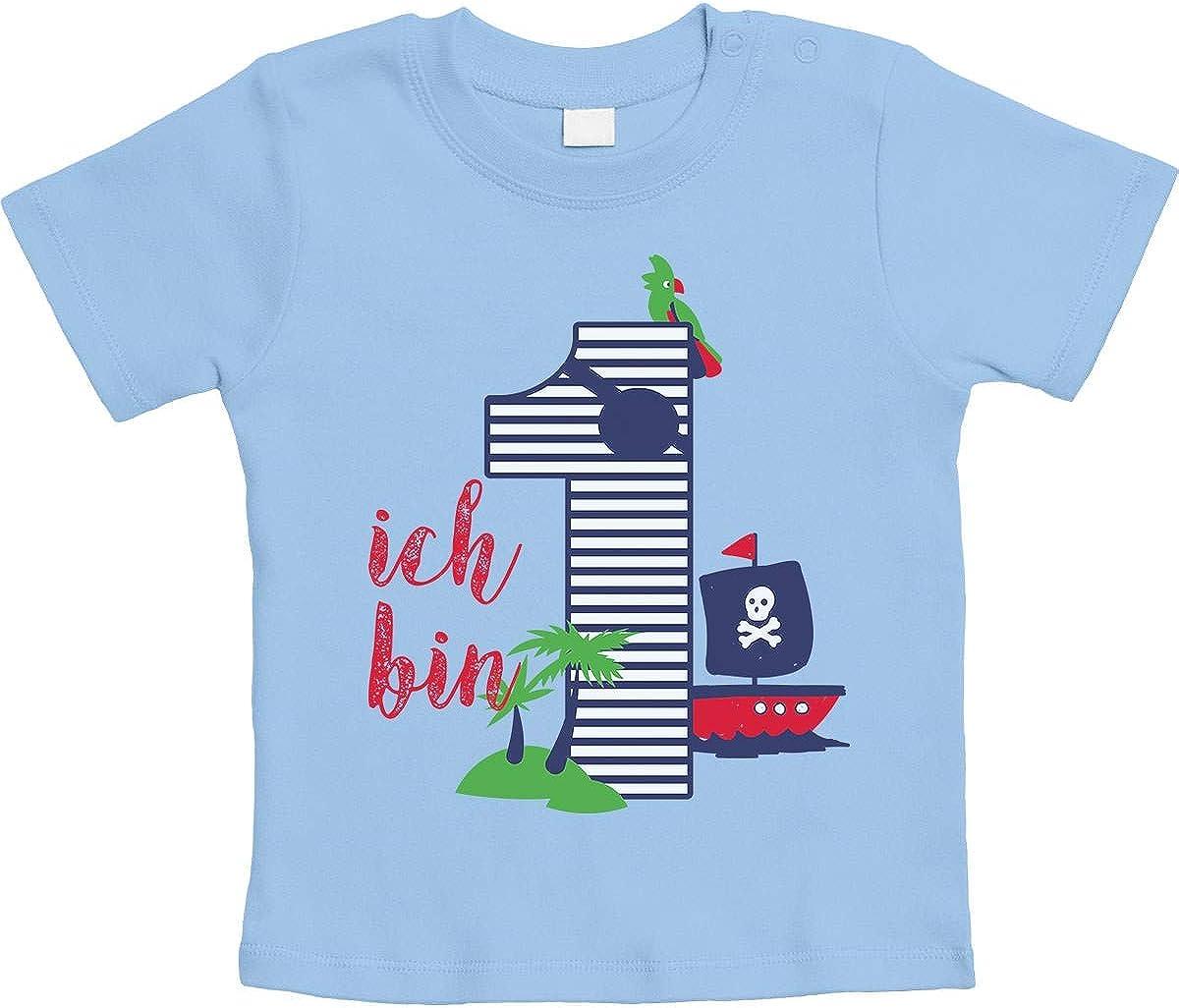 Shirtgeil 1 Jahr Geburtstag Piraten Geschenk Jungen Baby T-Shirt