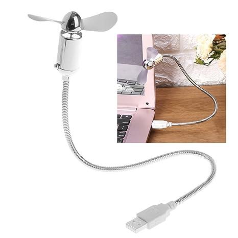 Cuigu Mini USB Ventilador refrigeración Flexible de bajo Consumo de energía de USB con el para