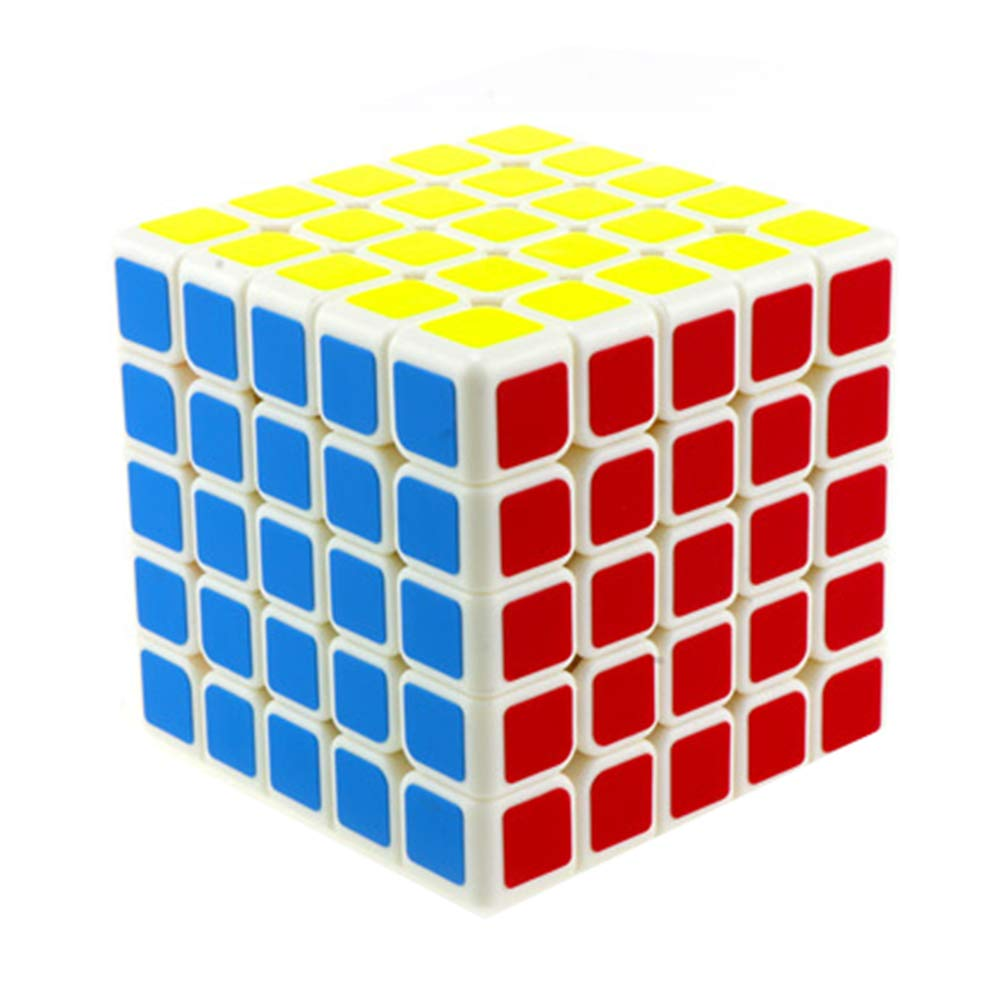 JIAAE 5X5 Puzzle Rubik's Cube Professional Intelligence Competition Rubik Children Early Education Toy,Black