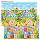 Baby Care Non toxic Double sided soft Playmat / Protecting Play Mat - Pingko & Friends - Large