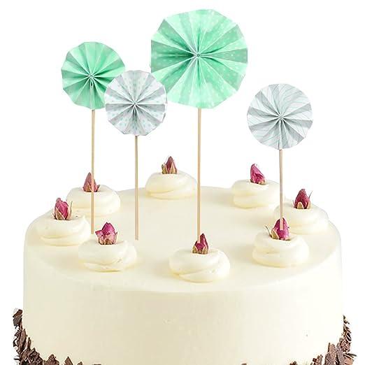 Funpa - 4 Adornos para decoración de Tartas de Colores para ...