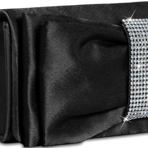 CASPAR Taschen & Accessoires - Cartera de mano con asa para mujer - negro