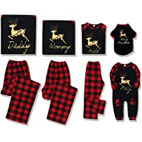 Rehomy Christmas Family - Conjunto de Pijamas a Juego clásico a Cuadros, Pantalones o Mameluco de bebé, Ropa de Dormir…