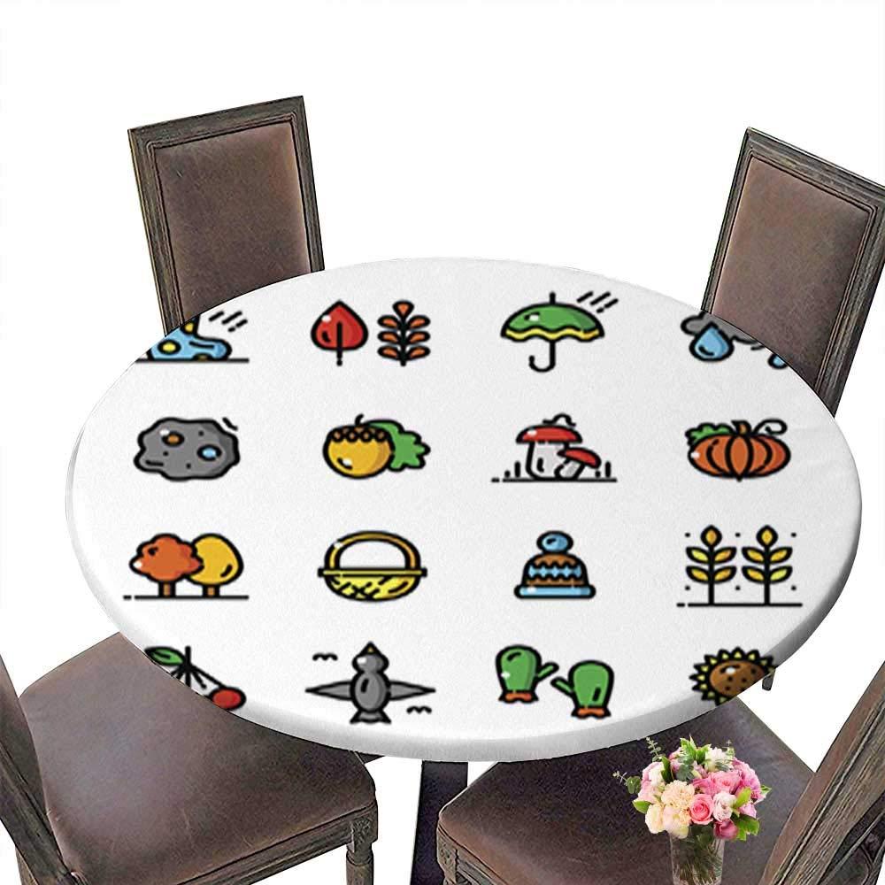 ポリエステル製ラウンドテーブルクロス テーブルクロスの背景に野菜が付いた大皿の上の七面鳥 お手入れ簡単 こぼれ防止 67.5