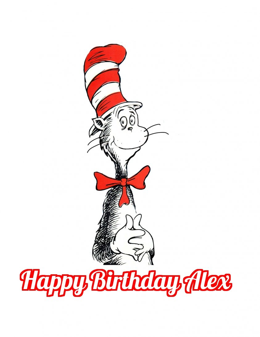 amazon com dr seuss cat in the hat edible image photo cake topper