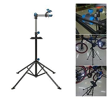 COMOTS Soporte de reparación de bicicletas ajustable para reparación de aparcamiento de bicicleta, para casa