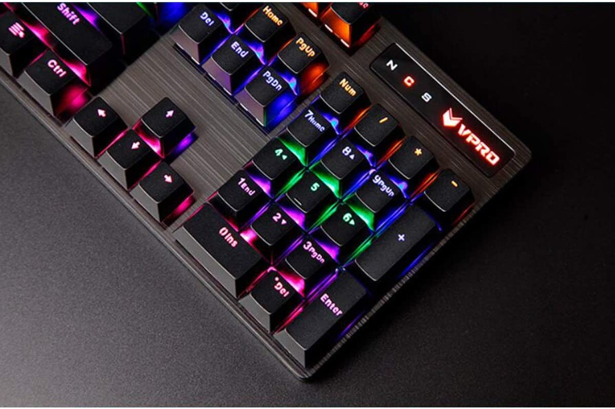 Black Stick core Waterproof Hongyushanghang Mechanical Keyboard Eating Chicken Computer Keyboard Wired Gaming Keyboard Color : Black Enjoy Comfortably.