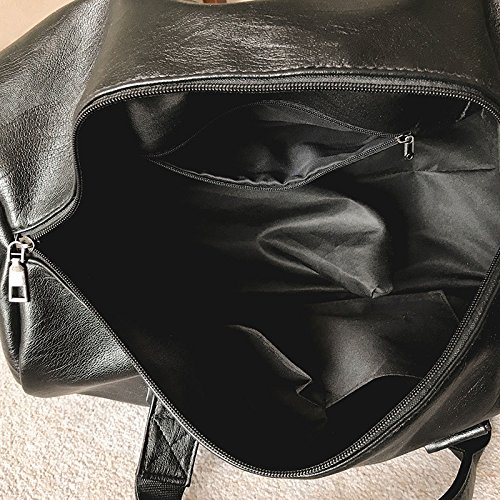 Léger Hommes Sport Sac Sacs Grande De Black Snfgoij Capacité Duffelbag Voyage w6q011