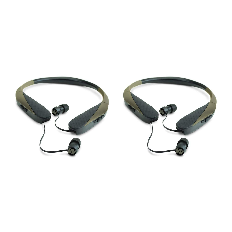 Walker039;s Razor XV Bluetooth Hunting Ear Bud Muff Headset Bundle (2 Pack), Retractable by Walkers