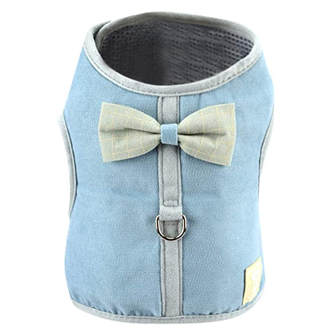 Amazon.com : BingYELH Dog Harness Vest, Corduroy Mesh Bowknot Pet Dogs Adjustable Strap Breathable Soft Vest for Travel Walking Daily Use : Pet Supplies