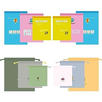 LZYMSZ 12 PCS Bolsas de Almacenamiento al vacío Bolsas para Ahorrar Espacio, Bolsas de Almacenamiento de viaje de Compresión, Bolsa de ropa ...