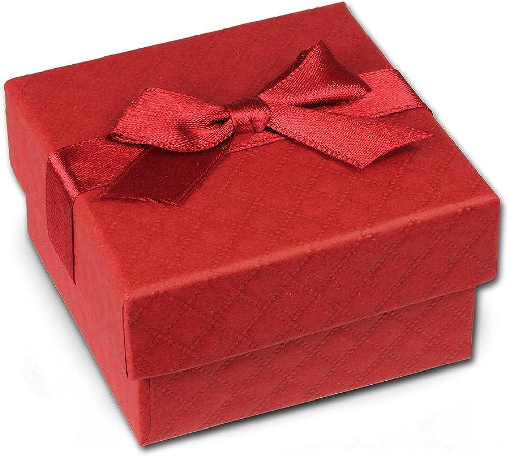 Caja de regalo SD rojo 65 x 65 x 35 mm, caja de joyas con lazo, VE3163R.: IMPPAC: Amazon.es: Joyería