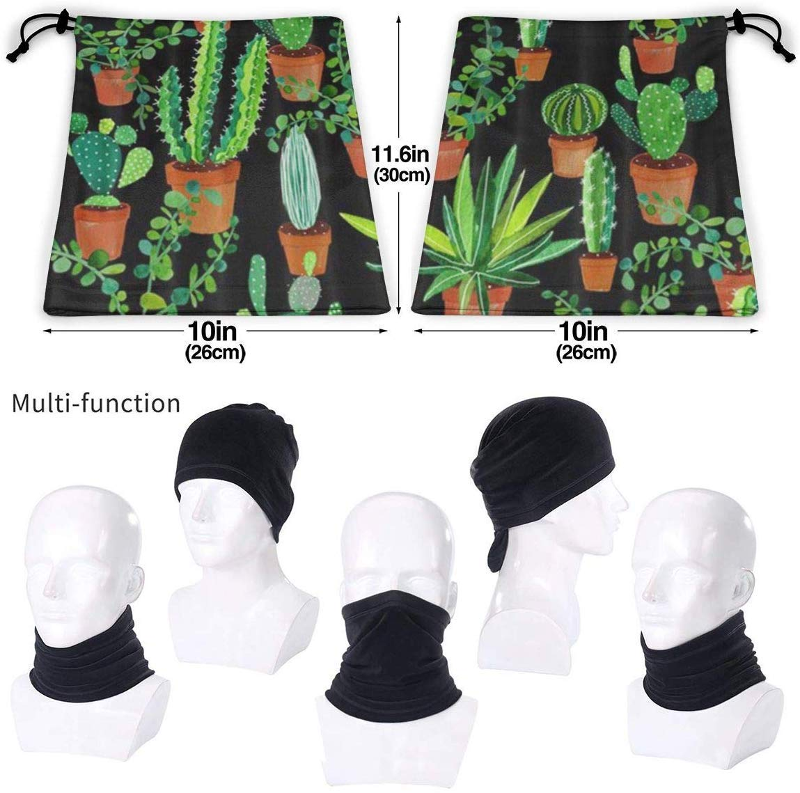 Kaktus Cactus Xarchy Maschera facciale pi/ù Calda per Scaldacollo in Pile Inverno allaperto