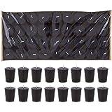 Mega Candles - Unscented 15 Hours Votive Candle - Black, Set of 72