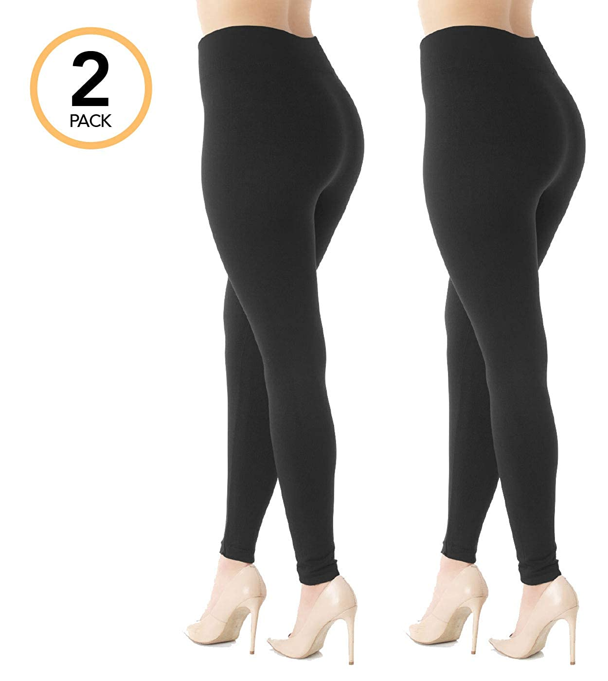 a439fff288b Premium Women s Fleece Lined Leggings - High Waist - Regular and Plus Size  - 20+ Colors at Amazon Women s Clothing store