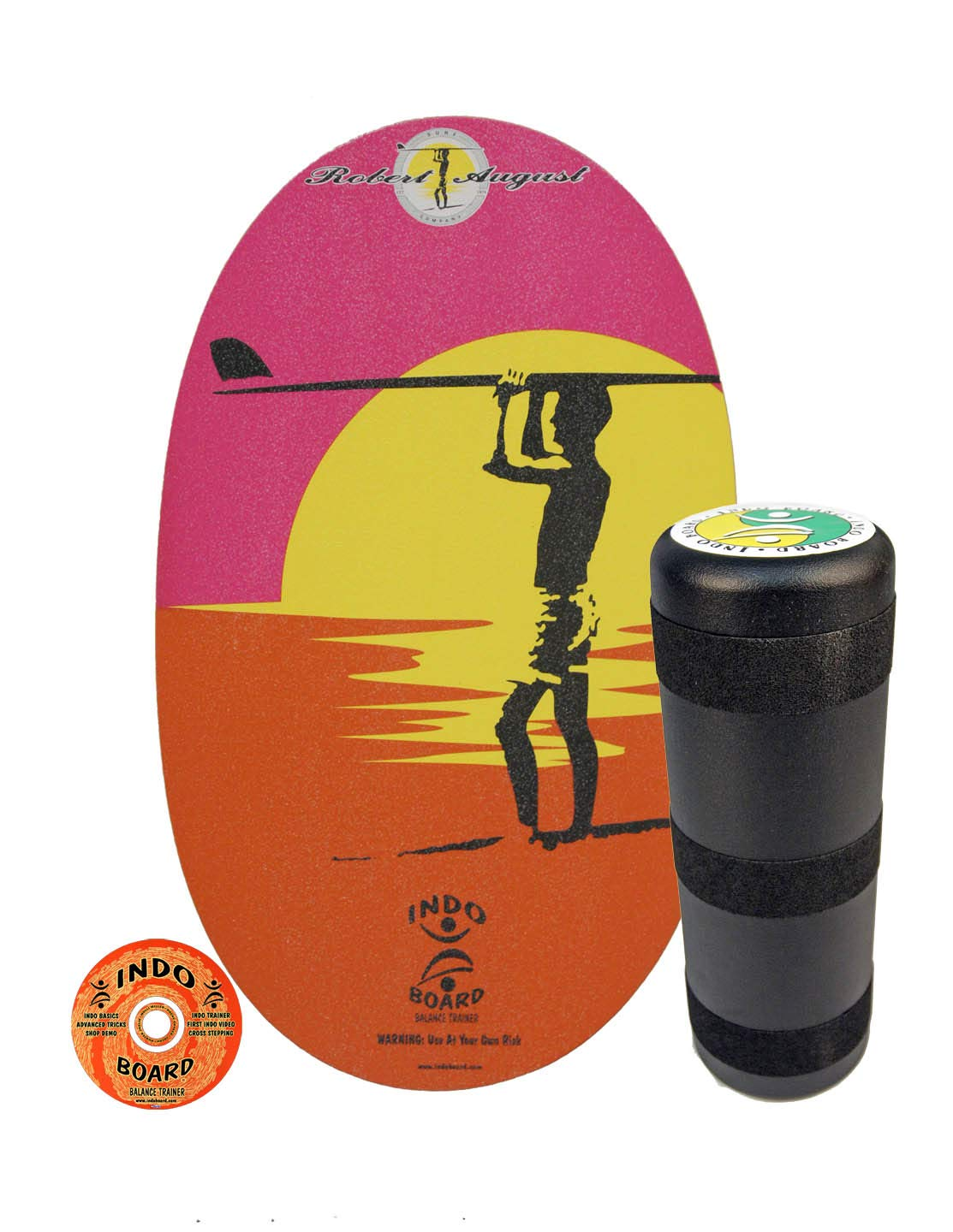 INDO BOARD Original Balance Board for Fun, Challenging Fitness. Comes with 30'' X 18'' Non-Slip Deck, 6.5'' Roller and 11 Color Choices (Robert August)