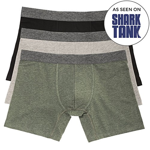 Fitting Boxers - Basic Outfitters Boxer Briefs Thyme Men's Stretch Jersey No Ride 3-Pack Medium