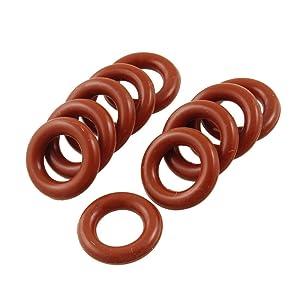 Flyshop 10 Pcs Red Silicone Sealing Rings O Ring Gasket 0.75