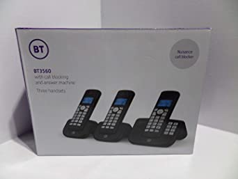BT 3560 Trio - Answerphone Digital inalámbrico con Bloqueo de Llamadas molestas: Amazon.es: Electrónica