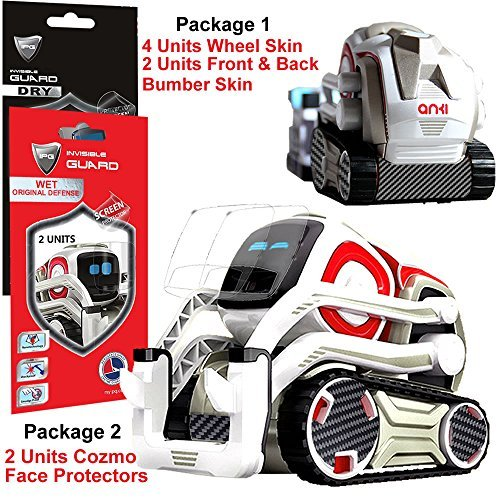 (IPG for Cozmo Robot Face Screen Guard KIT Excellent Protector from Unexpected Attacks of Kids and Pets. Include Wheels & Bumpers Decoration Set (Black Carbon Fiber))