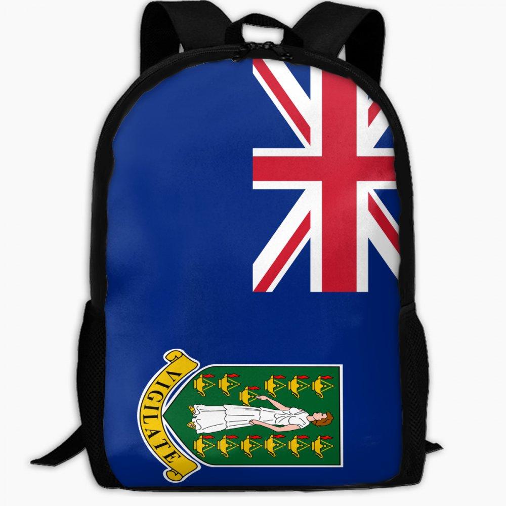 Chunlei子スクールバッグイギリス領ヴァージン諸島の国旗アウトドア旅行バックパック学生バックパックキッズブックバッグユニセックスショルダーDaypack B07FVSWQS2