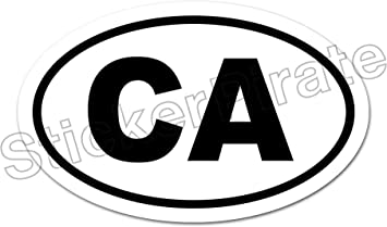 * Oval Car Magnet CA California  Magnetic Bumper Sticker