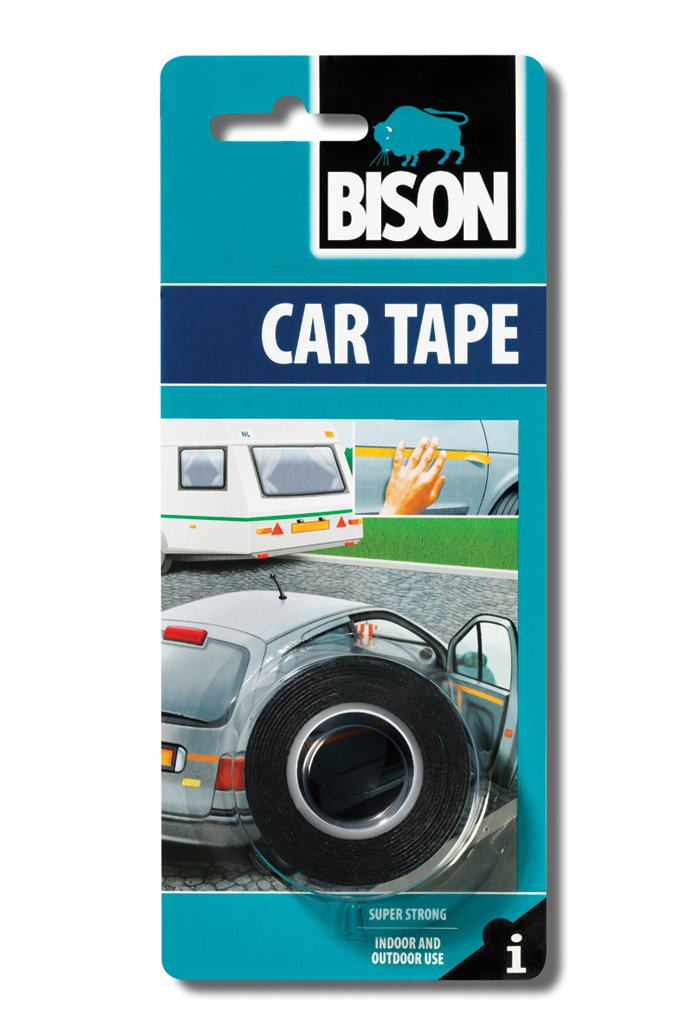 1 x 6305462 Bison Double Sided Adhesive Car Tape Fixing Foam for Indoor & Outdoor Use 1.5m long x 19mm wide black