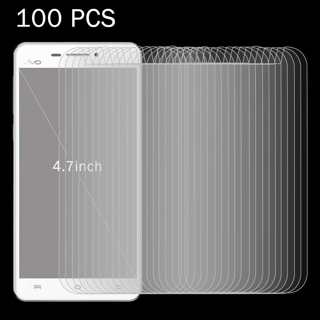 GzPuluz Glass Protector Film 100 PCS 0.26mm 9H Surface Hardness 2.5D Explosion-Proof Tempered Glass Screen Film for 4.7 inch Mobile Phones