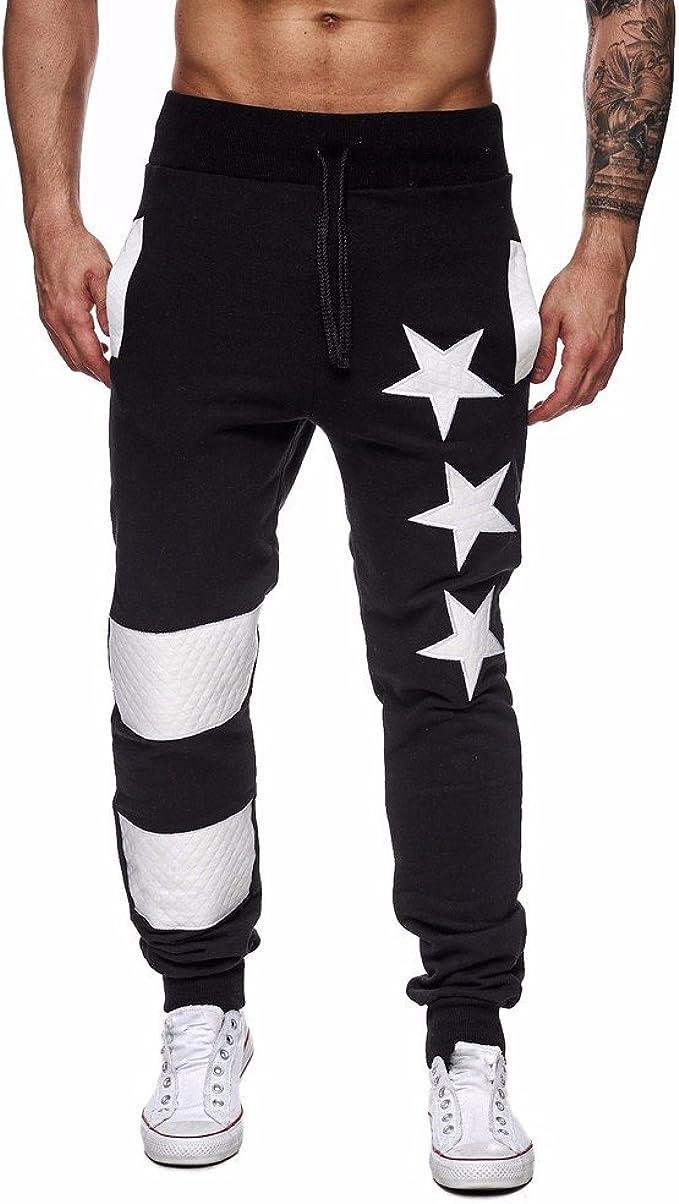 TIMEMEANS Men Casual Jogger Dance Sportwear Baggy Slim Designed Pants Slacks Sweatpant