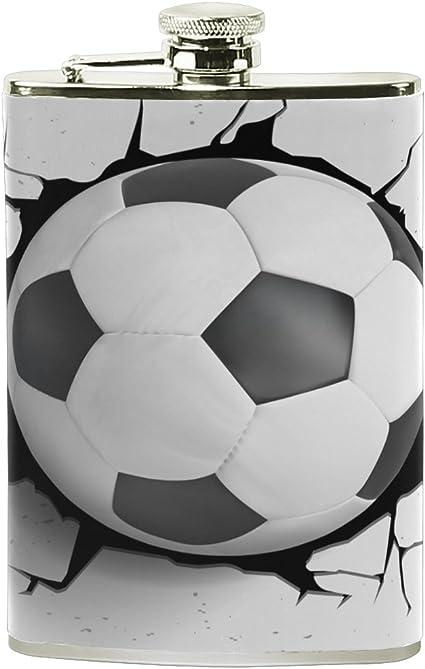 ALAZA balón de fútbol petaca 8 oz A prueba de fugas Acero ...