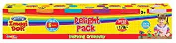 Craftival CID 040 Imagi Doh Delight, Multi Color  Pack of 2  Clay   Dough