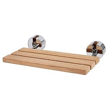 Amazon.com: LordBee - Asiento de ducha plegable de madera de ...