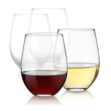 7bd0eacb9cc2 Amazon.com  Luminarc 15 Ounce Stemless White and Red Wine Glasses ...