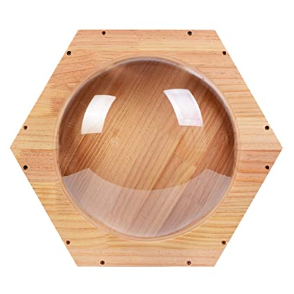 Hong Yi Fei-Shop-Pet nest Gato De Madera Maciza Pared Nido Ventana Transparente