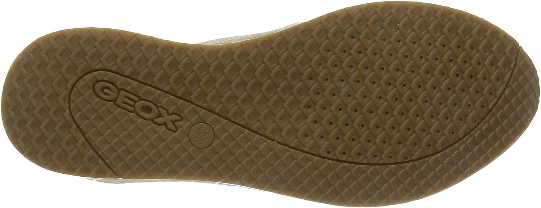 Geox D NYDAME E, Scarpe da Ginnastica Basse Donna Beige Sand C5004