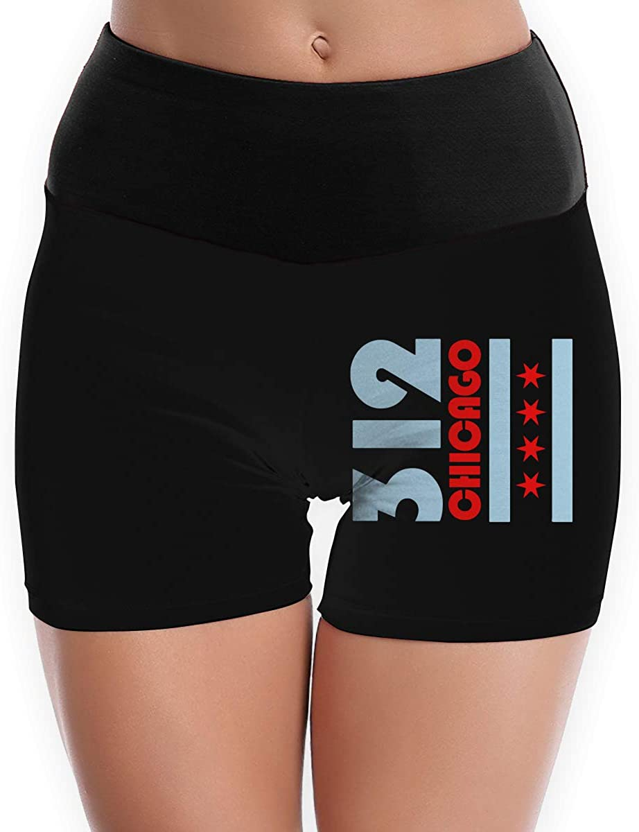 LDGT@DU Womens Yoga Shorts Chicago Flag 312 Comfy Sports Shorts