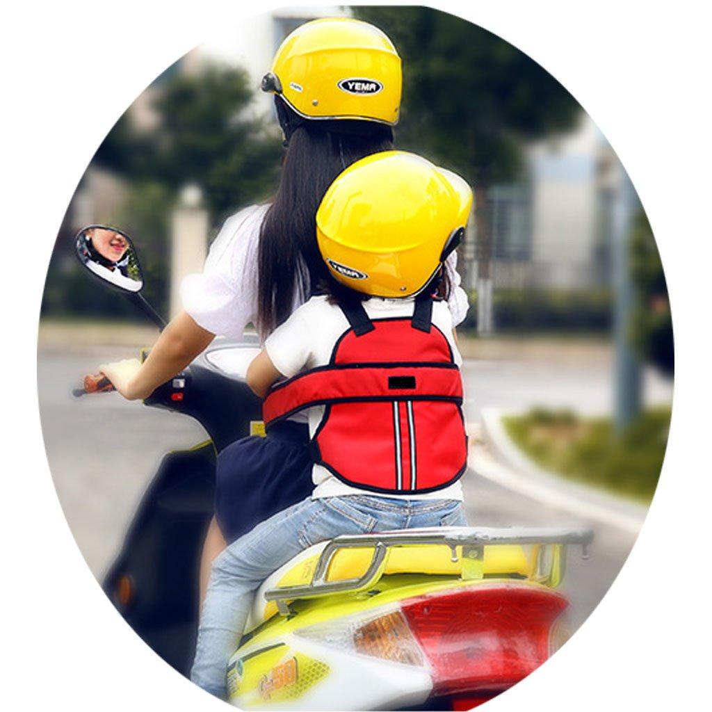 Vine Niño Arneses de seguridad Niños Portador Correa de Cinturón de Seguridad reflectante ajustable de Asiento con Hebillas para Vehículo Eléctrico Moto Motocicleta (Rosado) Vine Trading Co. Ltd E160823AQ01004V
