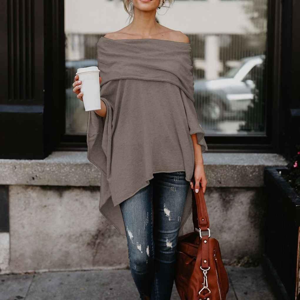 Amazon.com : KOROWA Las Mujeres ocasionales del pañuelo del hombro Irregular Hem Side Slit Las Camisas de la Camiseta de la alta túnica Baja : Sports & ...