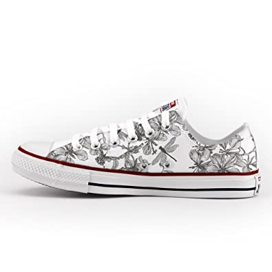 9db1c0777ed7 Converse All Star Low Customized and Printed - Handmade Shoes - Italian  Brand - Dragonfly  Amazon.co.uk  Shoes   Bags